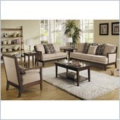Homelegance Dalton 3 Piece Sofa Set in Beige