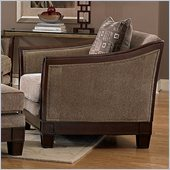 Homelegance Trenton Chair in Dark Tan Chenille