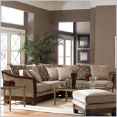 Homelegance Trenton Sectional in Dark Tan Chenille