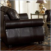 Homelegance Wrangler II Loveseat in Dark Brown Bi-Cast Vinyl