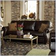 ADD TO YOUR SET: Homelegance Wrangler II Sofa in Dark Brown Bi-Cast Vinyl