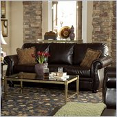 Homelegance Wrangler II Sofa in Dark Brown Bi-Cast Vinyl
