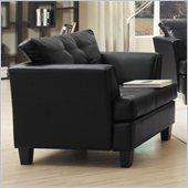 Homelegance Della Chair in Black Bonded Leather