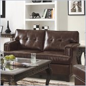 Homelegance Hodley Loveseat in Brown Bonded Leather