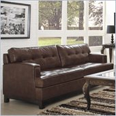 Homelegance Hodley Sofa in Brown Bonded Leather