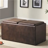 Homelegance Claire Cocktail Ottoman Table/Bench in Dark Brown