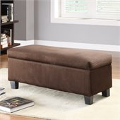 Homelegance Clair Storage Bench in Dark Brown