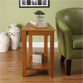 Homelegance Elwell Chair-Side Table in Oak