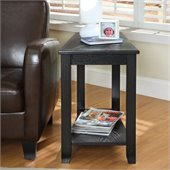 Homelegance Elwell Chair-Side Table in Black