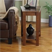 Homelegance Elwell Chair-Side Table in Espresso
