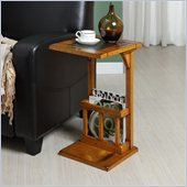 Homelegance Berman Chair-Side Table in Oak