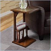 Homelegance Berman Chair-Side Table in Dark Oak