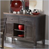 Homelegance Natick Server in Warm Espresso/Light Brown