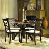 Homelegance Cantor 5 Piece Dinette Table Set in Warm Cherry