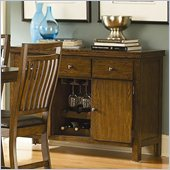 Homelegance Everett Server in Oak