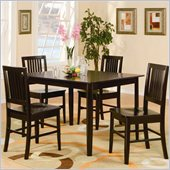 Homelegance Curtis 5 Piece Dinette Table Set in Dark Espresso