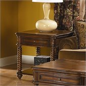 Homelegance Trammel End Table in Brown Mahogany