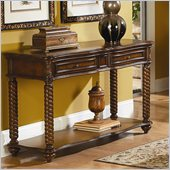 Homelegance Trammel Sofa Table in Brown Mahogany