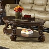 Homelegance Cavendish Cocktail Table in Warm Cherry