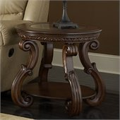 Homelegance Cavendish End Table in Warm Cherry
