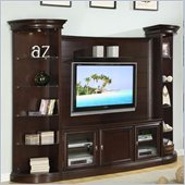 Homelegance Koppaz 4 Piece Entertainment Center in Espresso Finish
