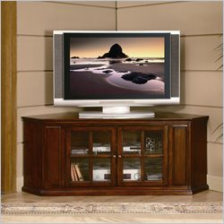 Homelegance Hayden 62 RTA Corner TV Stand in Burnished Oak