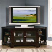 Homelegance Sloan 62 RTA Corner TV Stand in Warm Brown Cherry Finish