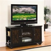 Homelegance Rufus TV Stand (Rta) in Warm Dark Brown Finish