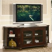 Homelegance Piedmont RTA TV Stand  in Warm Brown Cherry Finish