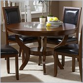Homelegance Avalon Round Dining Table in Low Sheen Cherry