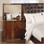 Homelegance Hamilton Nightstand and Mirror Set in Brown Cherry