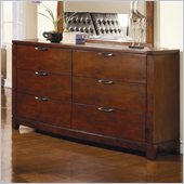 Homelegance Hamilton Dresser in Brown Cherry Finish