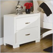 Homelegance Astrid Nightstand in White Finish