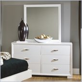 Homelegance Astrid Dresser and Mirror Set in White Finish