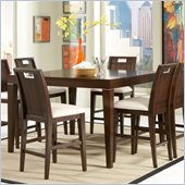 Homelegance Keller Counter Height Table in Deep Brown