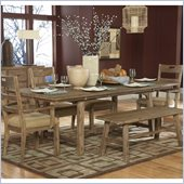 Homelegance Oxenbury Dining Table in Weathered Driftwood