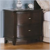 Homelegance Chico Nightstand in Dark Cherry