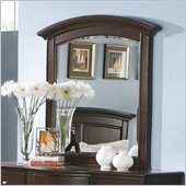 Homelegance Chico Mirror in Dark Cherry
