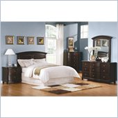 Homelegance Chico 5 Piece Bedroom Set in Dark Cherry
