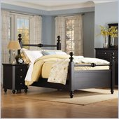 Homelegance Hanna Black Panel Poster Bed 3 Piece Bedroom Set