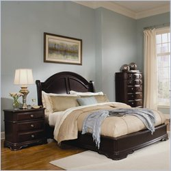Homelegance Grandover Panel Bed 3 Piece Bedroom Set in Dark Cherry
