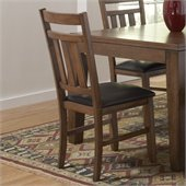 Homelegance Kirtland Side Chair in Warm Oak