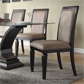 Homelegance Plano Side Chair in Espresso Finish (Set of 2)