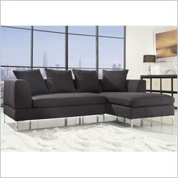 Homelegance Zola 2 Piece Sectional in Charcoal