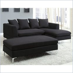 Homelegance Zola 3 Piece Sectional in Charcoal