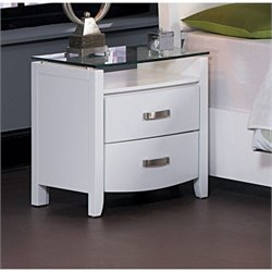Homelegance Lyric Night Stand in White