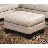 Homelegance Tufton Ivory Leather Ottoman