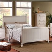 Homelegance Pottery Panel Bed in White Finish