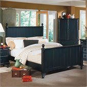 Homelegance Pottery Panel Bed in Black Finish
