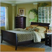 Homelegance Syracuse Queen Sleigh Bed in Merlot Finish